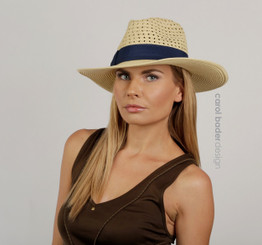 Vented Fedora with ribbon