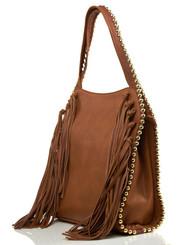 Grayelle Fringe Bag -Cognac