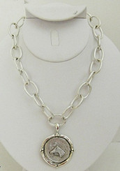 French Franc Horse Necklace