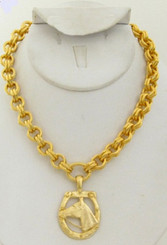 Gold Horse head necklace