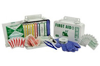 10 Unit First Aid Kit - Metal Case w/ Gasket