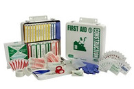 24 Unit First Aid Kit - Metal Case w/ Gasket