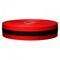 "2"" x 200'' Woven Barricade Tape, Red/Black"