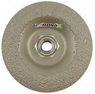 "4-1/2"" Type 29 50 Grit Diamond X Grinding Wheel"