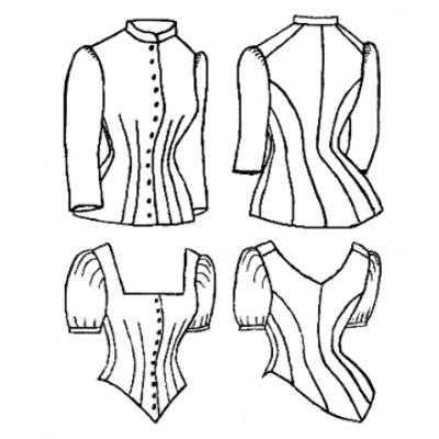 1885 Cuirass Bodice Sewing Pattern - Amazon Drygoods 1d58ca6fb