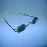 Green sliding eyeglasses