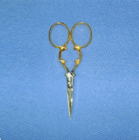 Embroidery Scissors Gold Plated