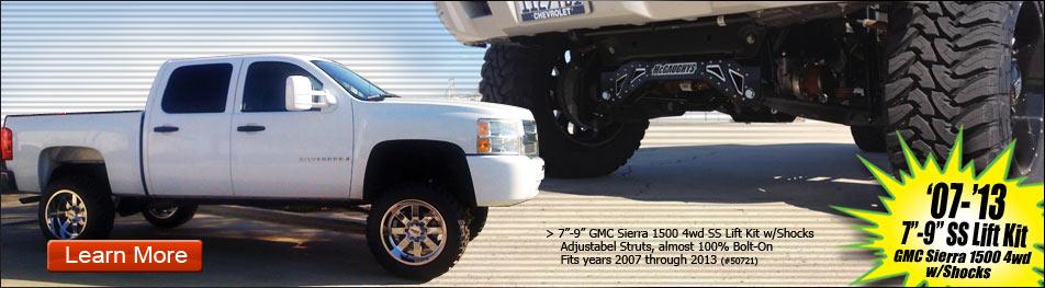"""07-13 7""""-9"""" SS Life Kit GMC Sierra 1500 4WD W/Shocks"""