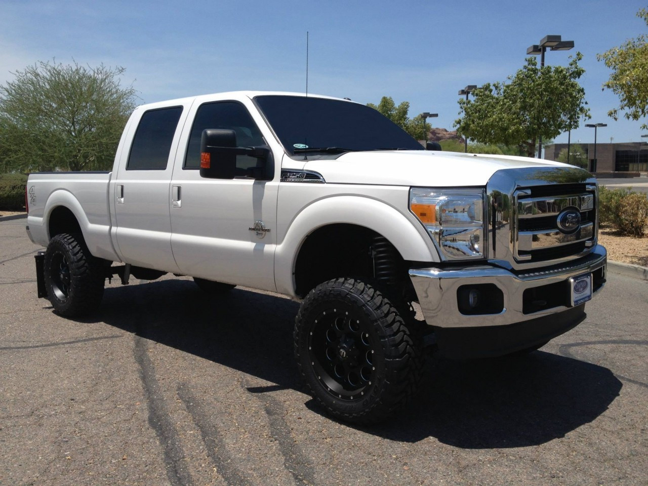 """Lifted 2017 F350 Dually >> Ford F250 4wd 2011-2016 6"""" Lift Kit W/Shocks Phase II - McGaughys Part# 57262 - Suspension Shop"""