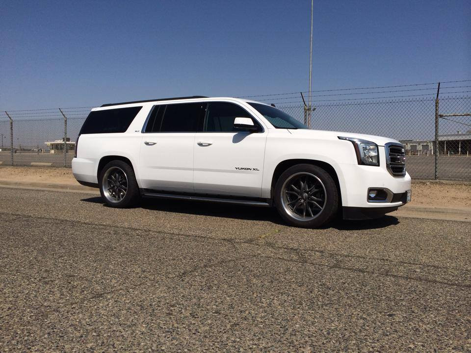 2015 Gmc Sierra Denali >> GMC Yukon XL 2015-2018 2/3 Economy Drop Kit - McGaughys Part# 34065/34066 - Suspension Shop