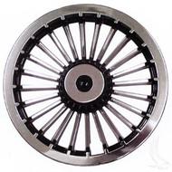 "Wheel Cover, 8"" Turbine Black/Silver standard 8"" wheels"