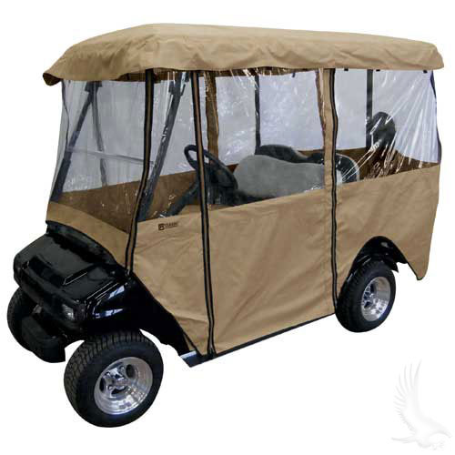 """Enclosure, Deluxe 4 Sided, Carts with 80"""" Top Weather Protection"""