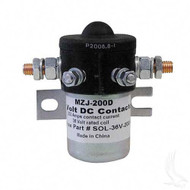 Solenoid, 200A 36V Universal Golf Cart Mounted solenoid