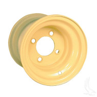 "Steel, Beige, 8x7 Standard Standard 8"" Golf Cart Wheel"