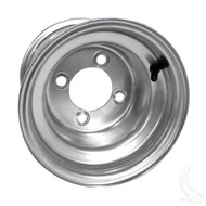 "Steel, Silver, 8x7 w/ Offset Standard 8"" Golf Cart Wheel"