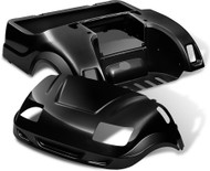 Yamaha Drive Doubletake Vortex Golf Cart Body Kit in Black