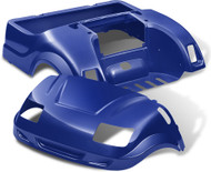 Yamaha Drive Doubletake Vortex Golf Cart Body Kit in Blue