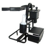 The Answer Universal Rear Seat Golf Bag Holder with Cooler/ Seed Bottles/Ball Washer