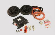 Bluetooth 80Watt 4 channel Power Amp Kit with Speakers and Wiring