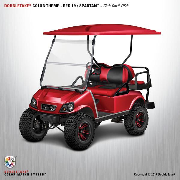Club Car Golf Cart DS Spartan Body In Red