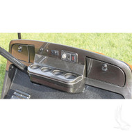 Dash, Carbon Fiber, E-Z-Go TXT 96-13 includes mounting hardware and keys for locking doors