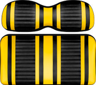 Doubletake Deluxe Extreme  Front Seat Cushion Set Black-Yellow