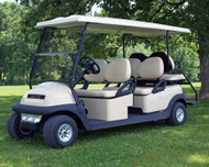 Our kit turns your Club Car Precedent Gas into a 4 forward facing Vehicle