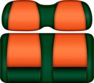 Doubletake FANatic Edition Front Seat Cushion Set Green-Tangerine