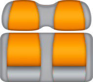Doubletake FANatic Edition Front Seat Cushion Set Gray-Pumpkin