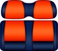 Doubletake FANatic Edition Front Seat Cushion Set Navy-Orange