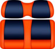 Doubletake FANatic Edition Front Seat Cushion Set Orange-Navy