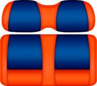Doubletake FANatic Edition Front Seat Cushion Set Orange-Royal