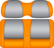 Doubletake FANatic Edition Front Seat Cushion Set Pumpkin-Gray