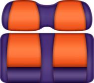Doubletake FANatic Edition Front Seat Cushion Set Purple-Tangerine