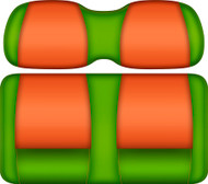 DoubleTake Tropical Edition Seat Cushion Assembly