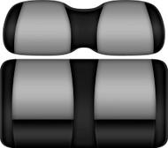 Doubletake FANatic Edition Front Seat Cushion Set Black-Silver