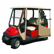 DoorWorks Hinged 3 Sided Enclosure for Club Car Beige