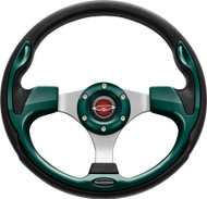 """Pilot 13"""" Color Matched Steering Wheel Green"""