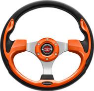 """Pilot 13"""" Color Matched Steering Wheel Orange"""