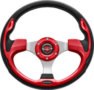 """Pilot 13"""" Color Matched Steering Wheel Red"""