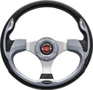 """Pilot 13"""" Color MatchedSteering Wheel Silver"""