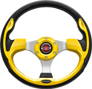 """Pilot 13"""" Color Matched Steering Wheel Yellow"""