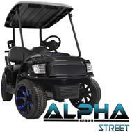 Madjax Alpha Black  Front Cowl w/ Street  Grill & Headlights