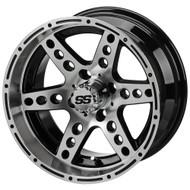 LSC Chaos SS Mach/Black 14X7 3:4 Offset for Club Car, EZ-GO and Yamaha Golf Carts