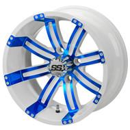 LSC Casino SS White/Blue 14X7 3:4 Offset for Club Car, EZ-GO and Yamaha Golf Carts
