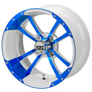 LSC Maltese Cross SS White/Blue 14X7 3:4 Offset for Club Car, EZ-GO and Yamaha Golf Carts