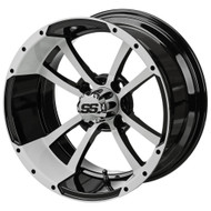 LSC Maltese Cross SS White/Black 14X7 3:4 Offset for Club Car, EZ-GO and Yamaha Golf Carts
