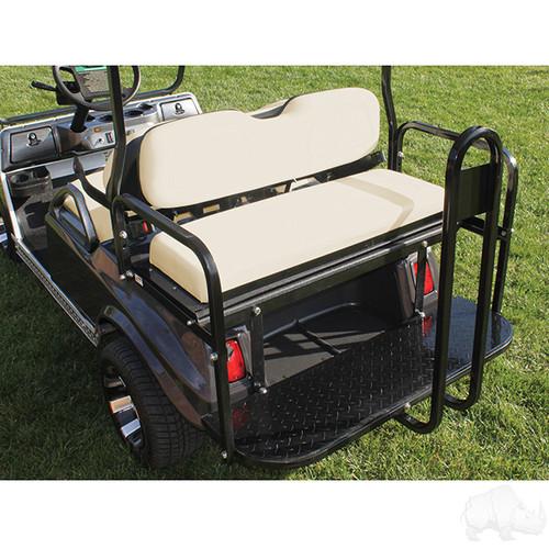 RHOX Super Saver Steel Rear Flip Seat Club Car DS Buff