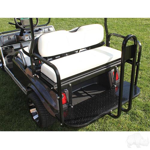 RHOX Super Saver Steel Rear Flip Seat Club Car DS White
