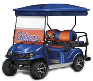 Doubletake complete EZ-GO TXT Golf Cart Refurbish Kit in Blue with WindowVision Decals